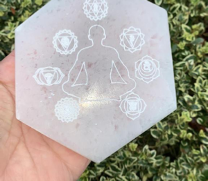 Selenite Engraved Coasters